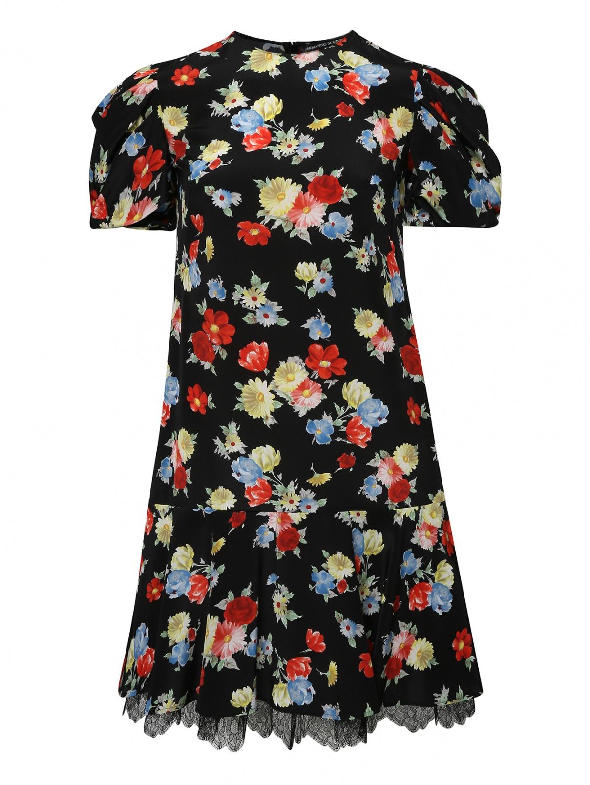 Платье из шелка с цветочным узором Ermanno Scervino  –  Общий вид