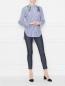 Блуза из хлопка в полоску с вышивкой бисером Dorothee Schumacher  –  МодельОбщийВид