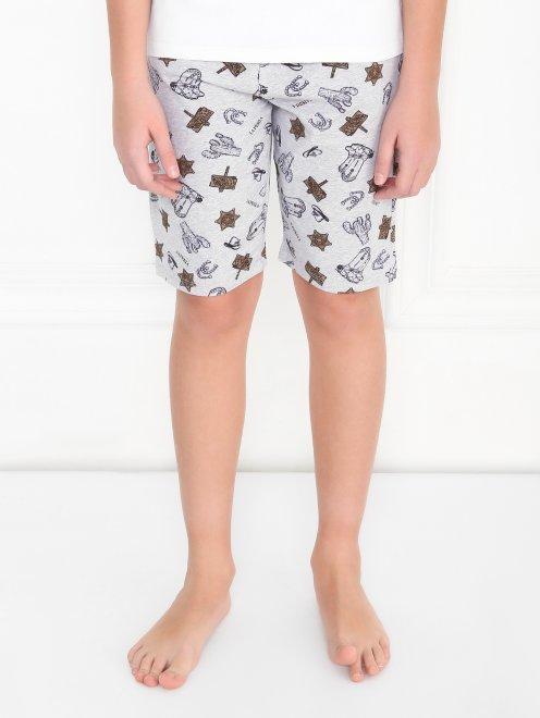 Пижама хлопковая с принтом La Perla - МодельВерхНиз