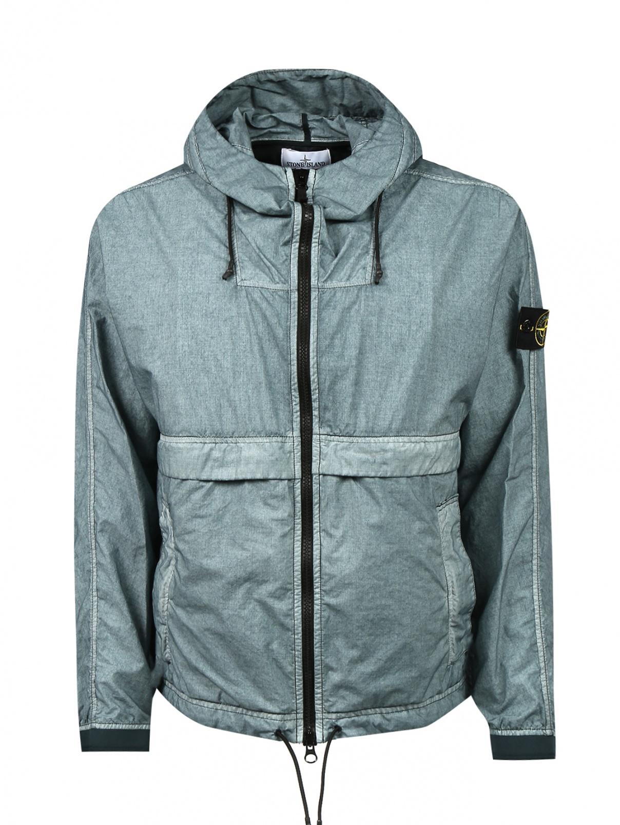 Куртка из хлопка на молнии с капюшоном Stone Island  –  Общий вид