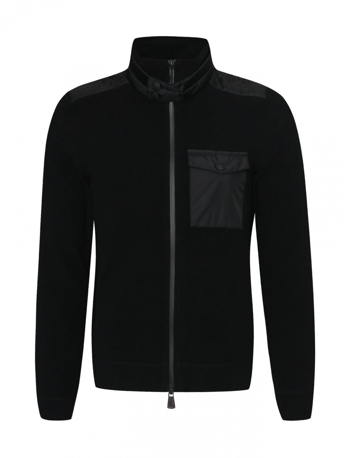 Толстовка на молнии с нагрудным карманом Moncler  –  Общий вид