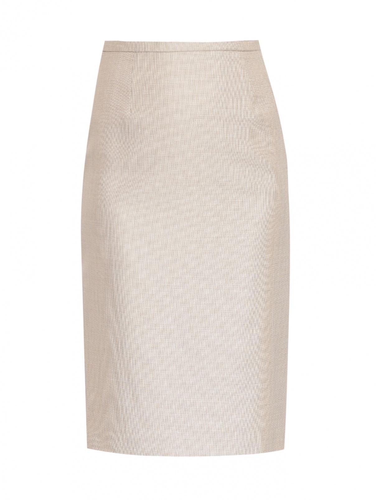 Юбка-миди из шерсти с узором Max Mara  –  Общий вид