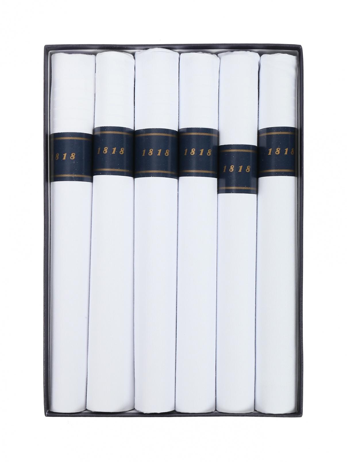 Набор : Платок из хлопка 6шт. Brooks Brothers  –  Общий вид