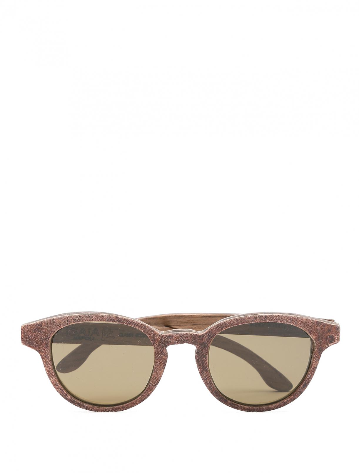 Очки солнцезащитные в деревянной оправе Isaia  –  Общий вид