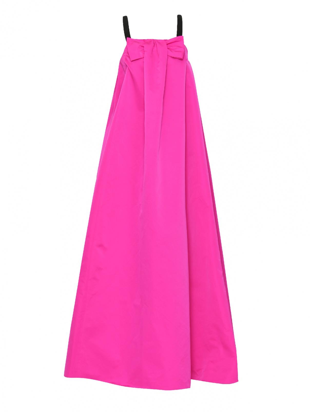 Платье-макси с бантом на бретелях Rochas  –  Общий вид
