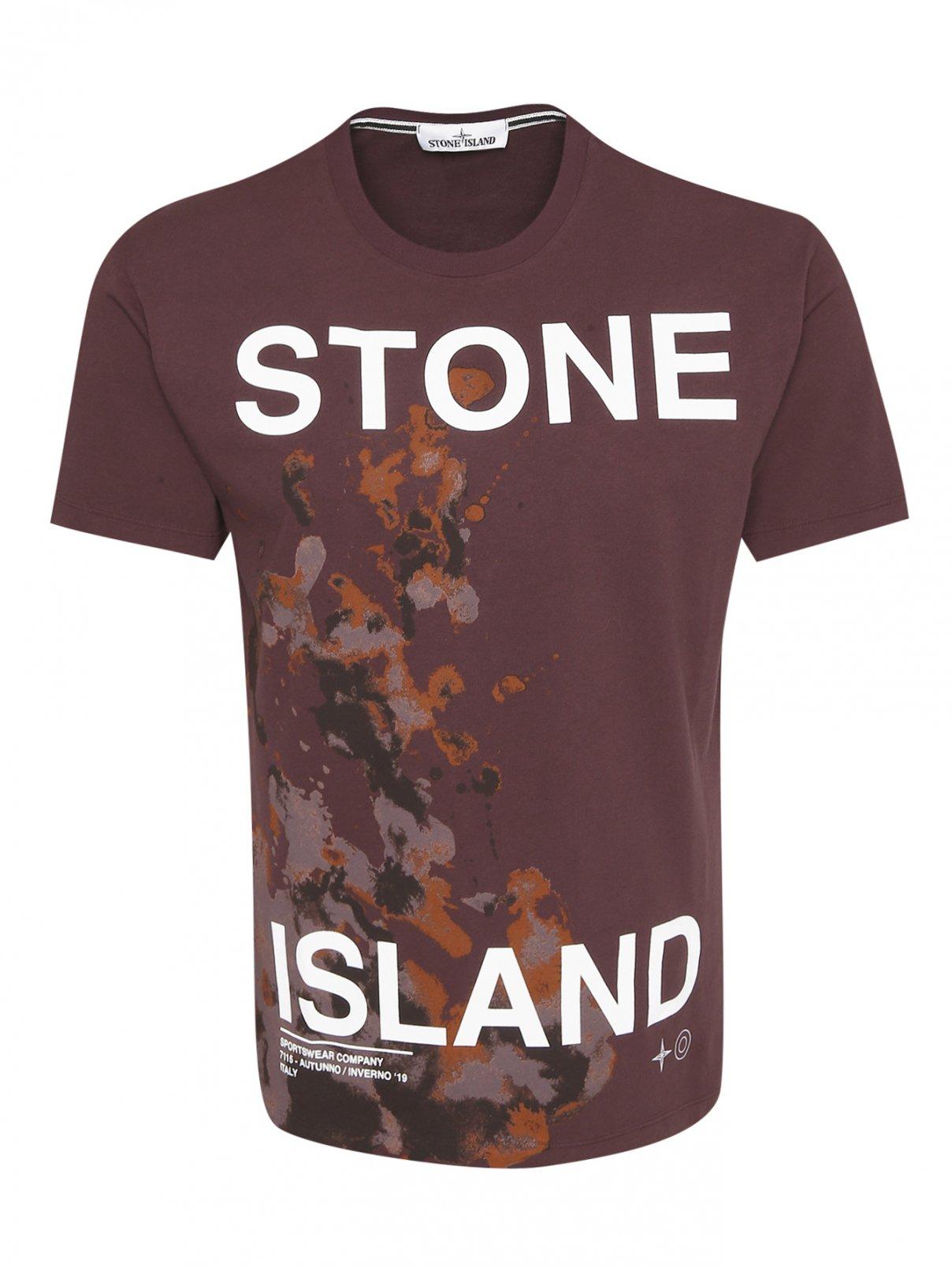Футболка из хлопка с принтом Stone Island  –  Общий вид