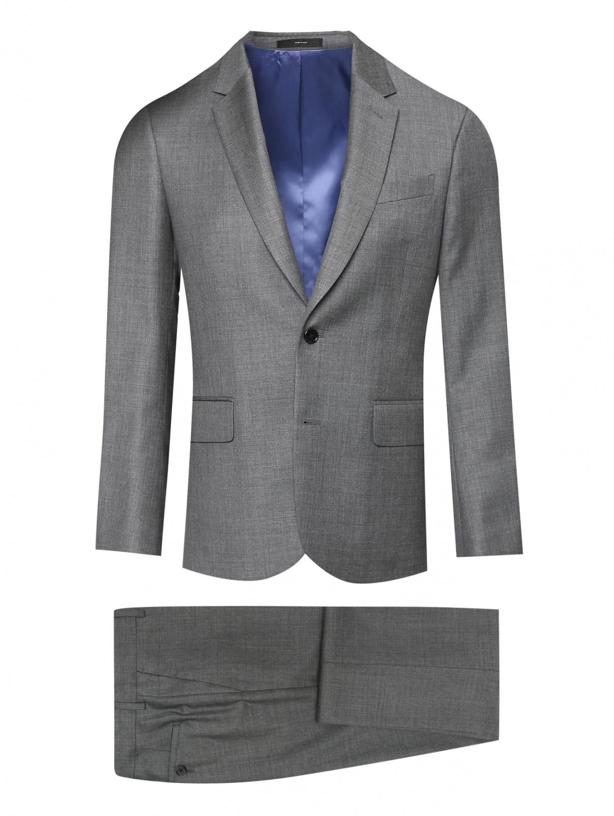 Однотонный костюм из шерсти Paul Smith  –  Общий вид