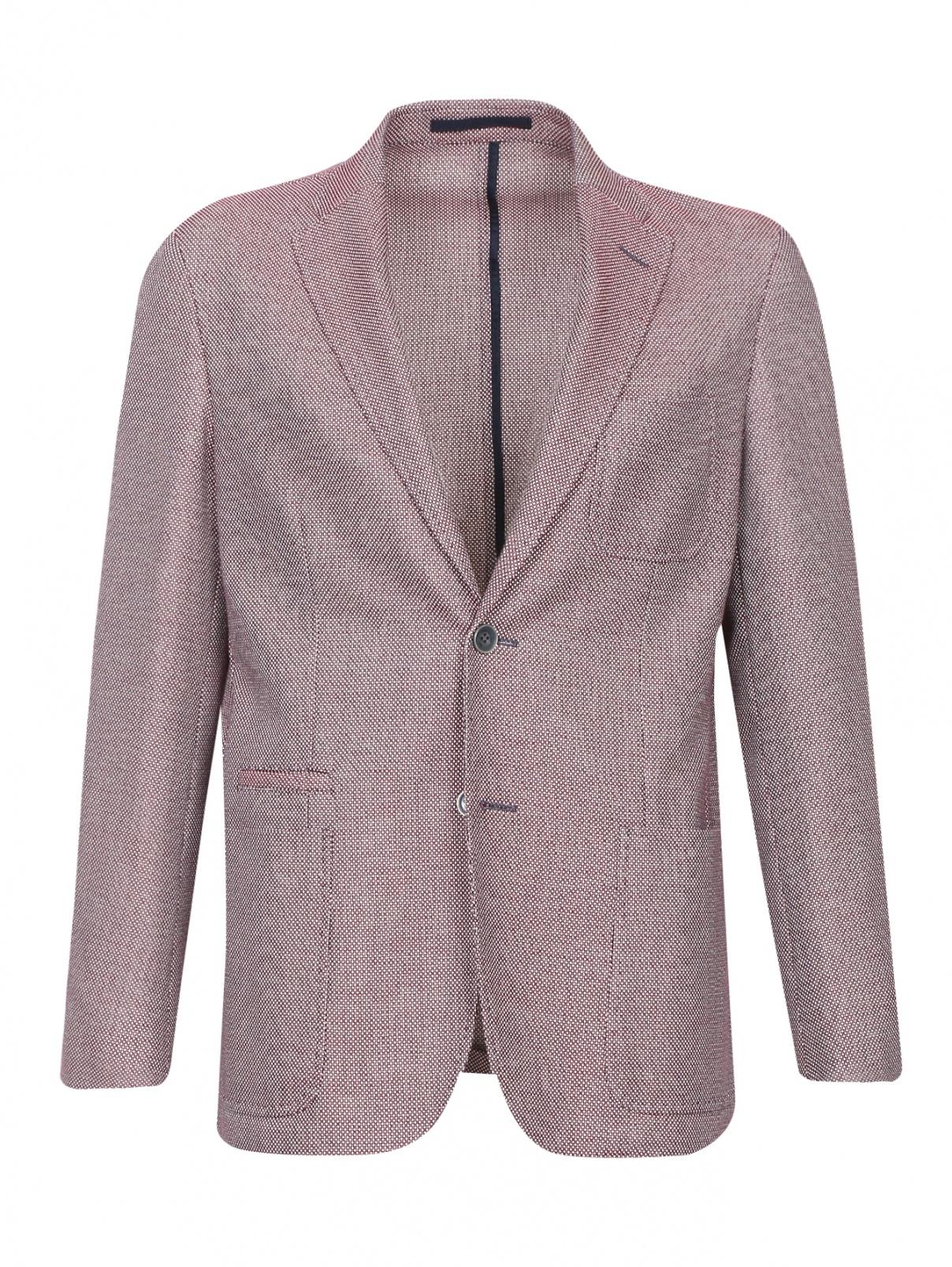 Пиджак из хлопка с узором Corneliani ID  –  Общий вид
