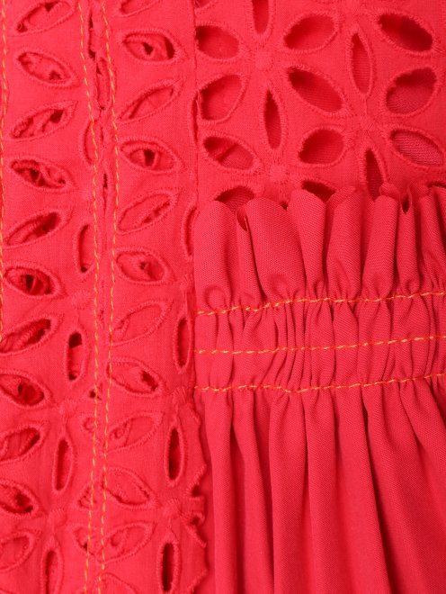 Платье-мини с декоративным вырезом - Деталь