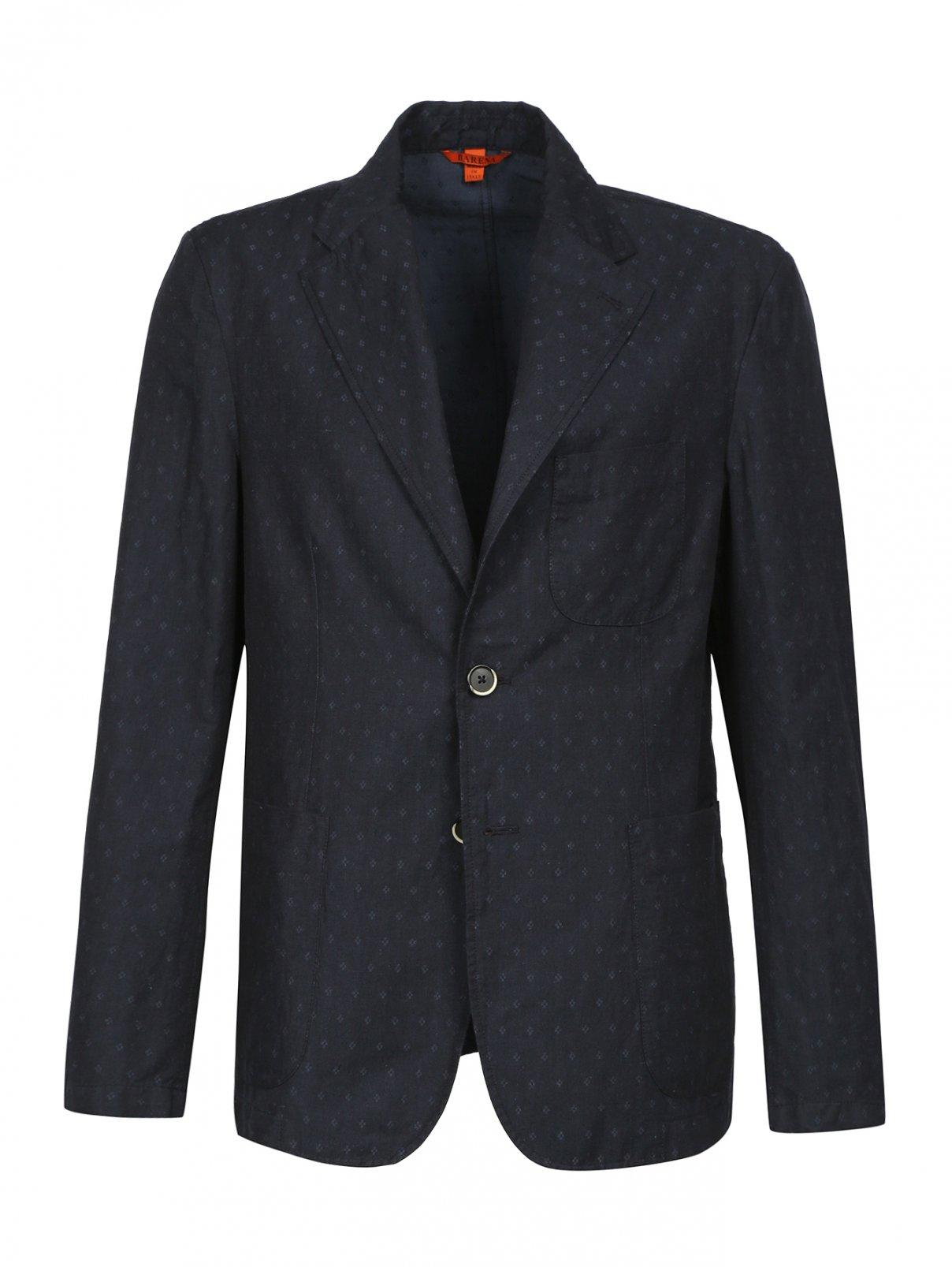 Пиджак из льна и хлопка с узором Barena  –  Общий вид
