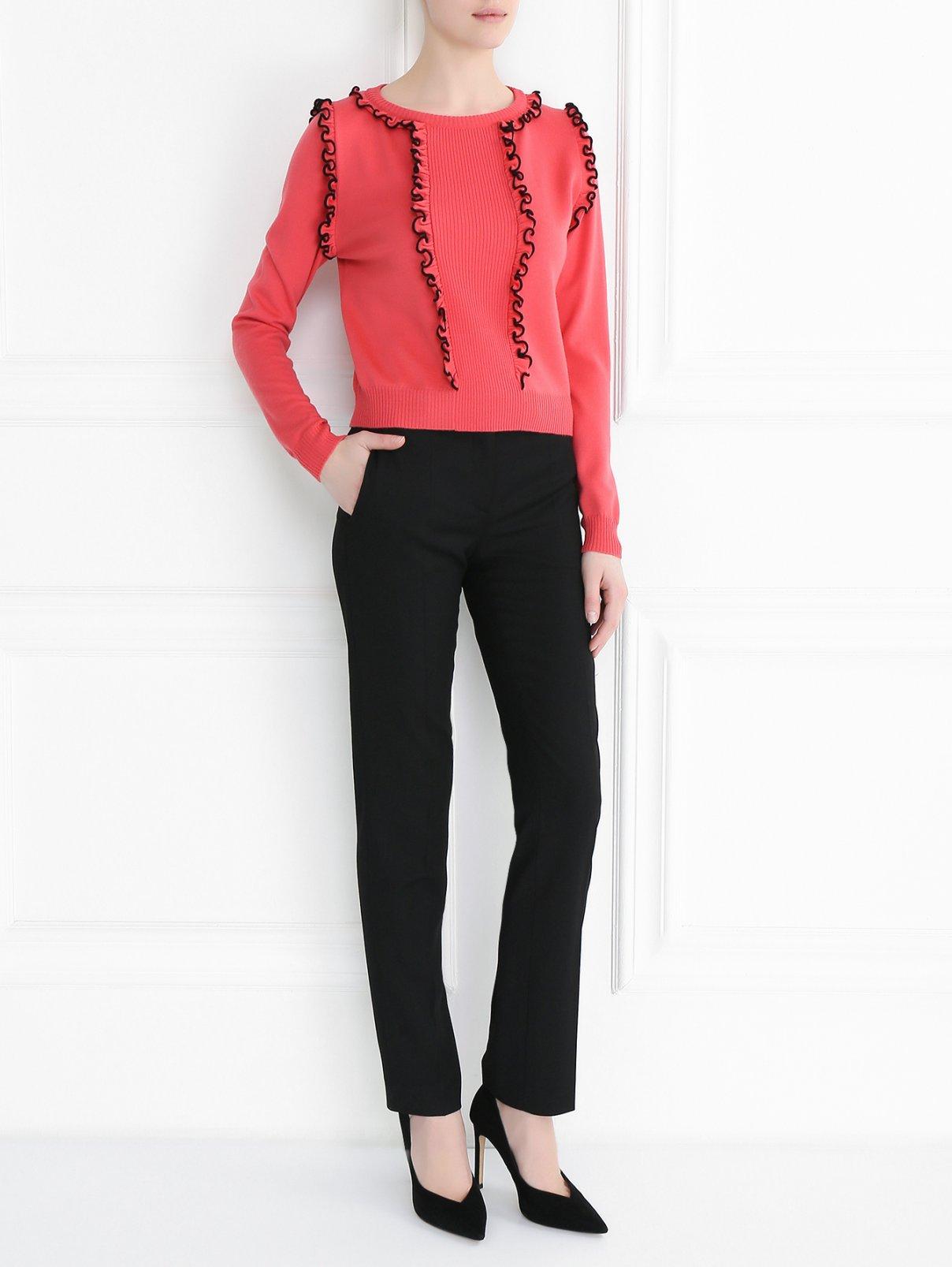 Джемпер из шерсти с декоративными рюшами Moschino Boutique  –  Модель Общий вид