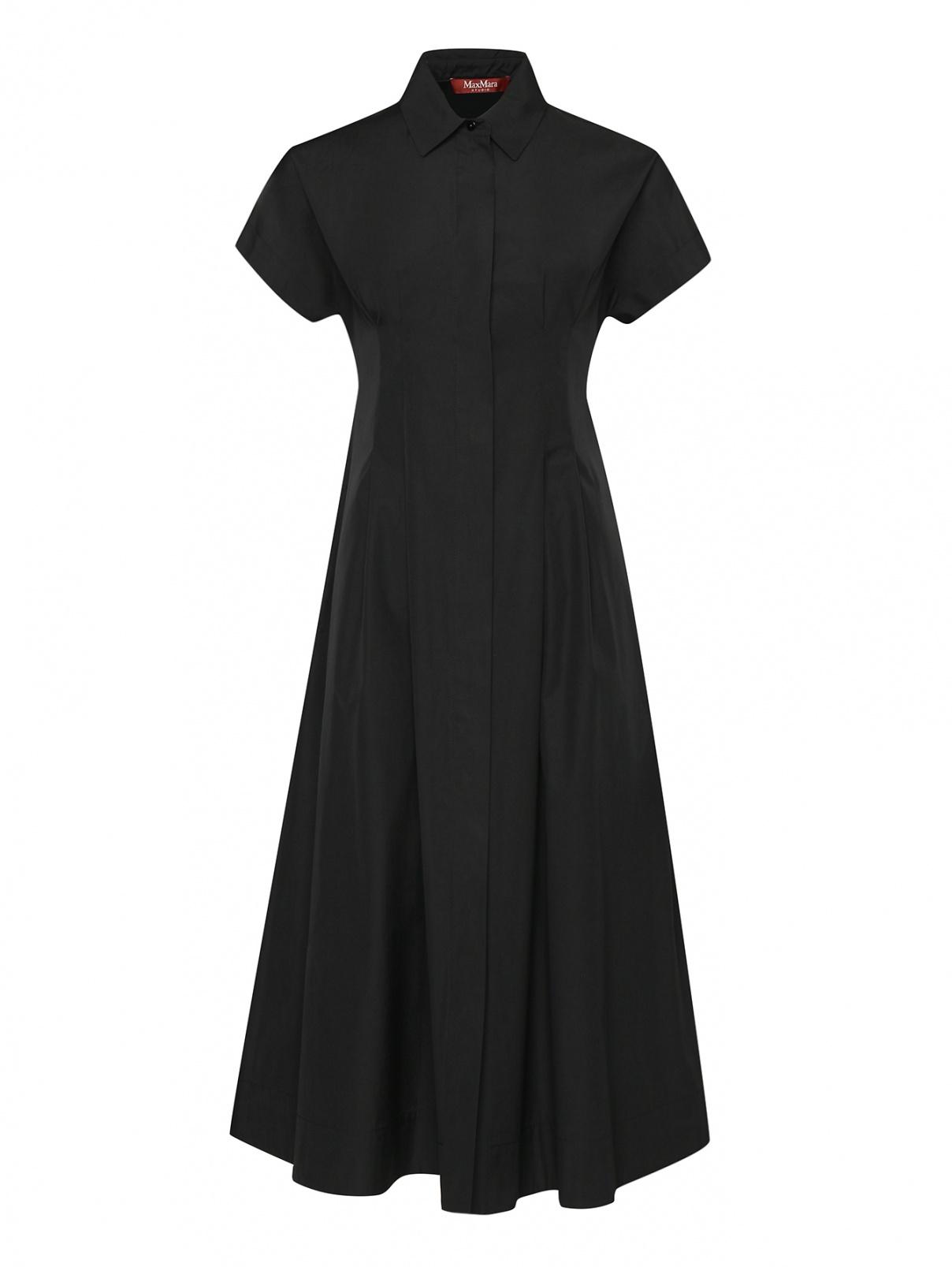 Платье-миди из хлопка с защипами Max Mara  –  Общий вид