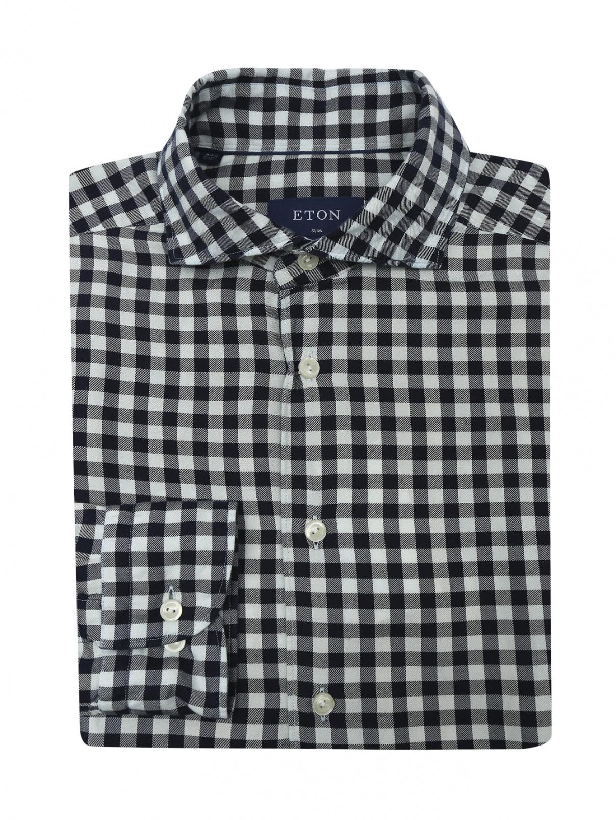 "Рубашка с узором ""клетка"" Eton  –  Общий вид"