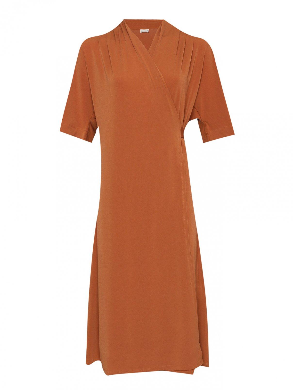 Платье однотонное с запахом By Malene Birger  –  Общий вид