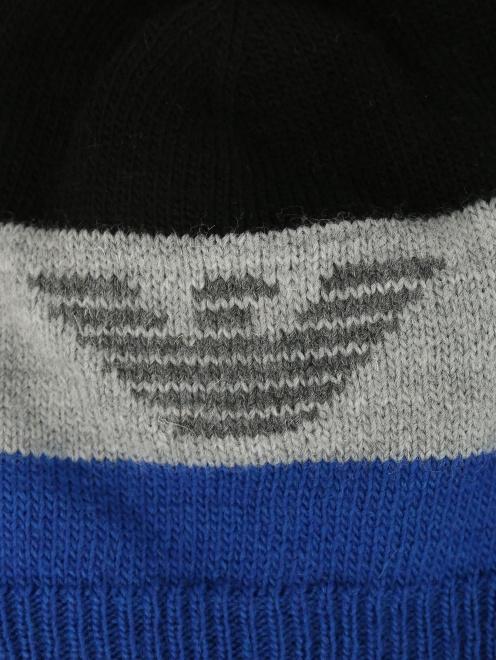 Шапка мелкой вязки с логотипом Armani Junior - Деталь1