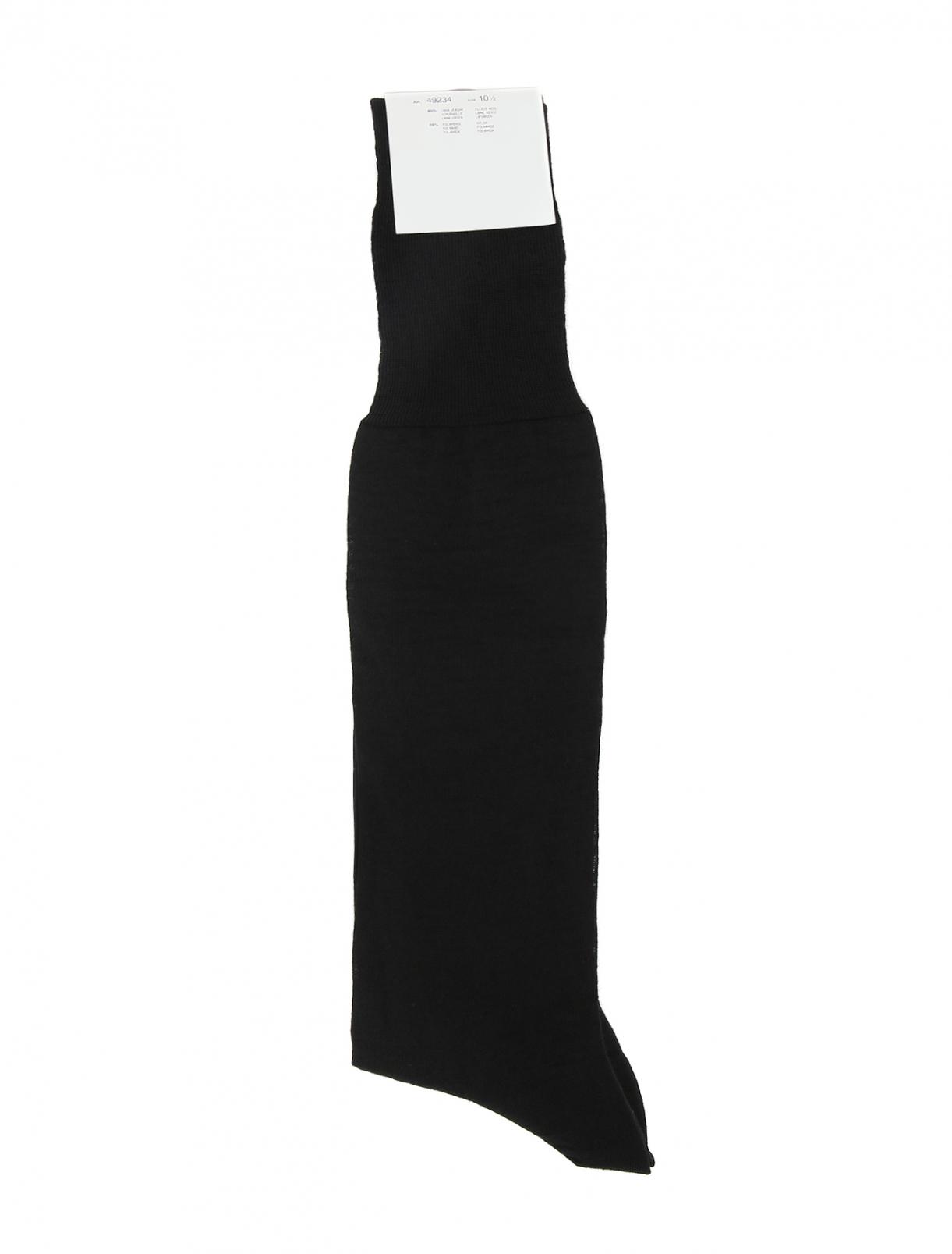 Носки высокие из тонкой шерсти NERO PERLA  –  Общий вид
