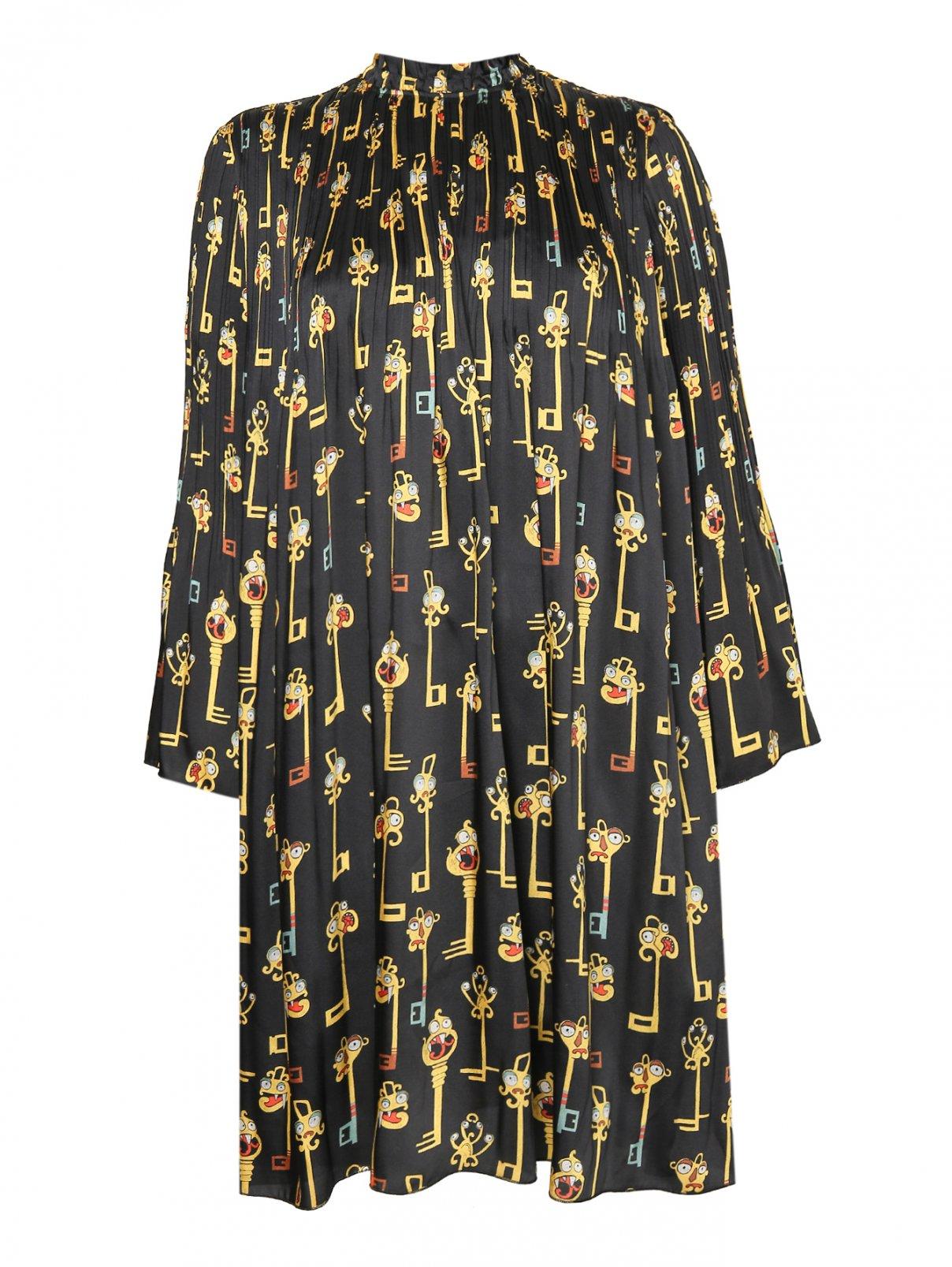 Платье свободного кроя с узором Alysi  –  Общий вид