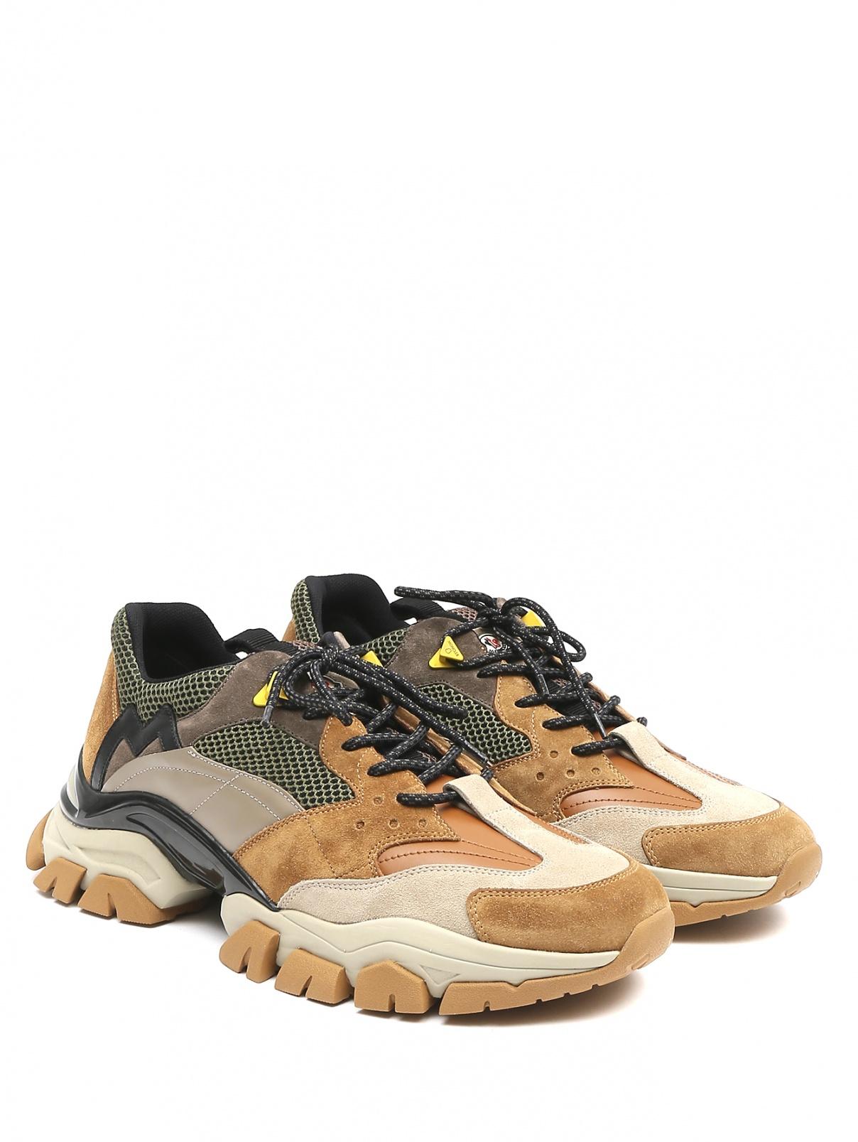 Кроссовки из кожи Moncler  –  Общий вид