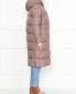 Пуховик на молнии с накладными карманами Add  –  МодельВерхНиз2