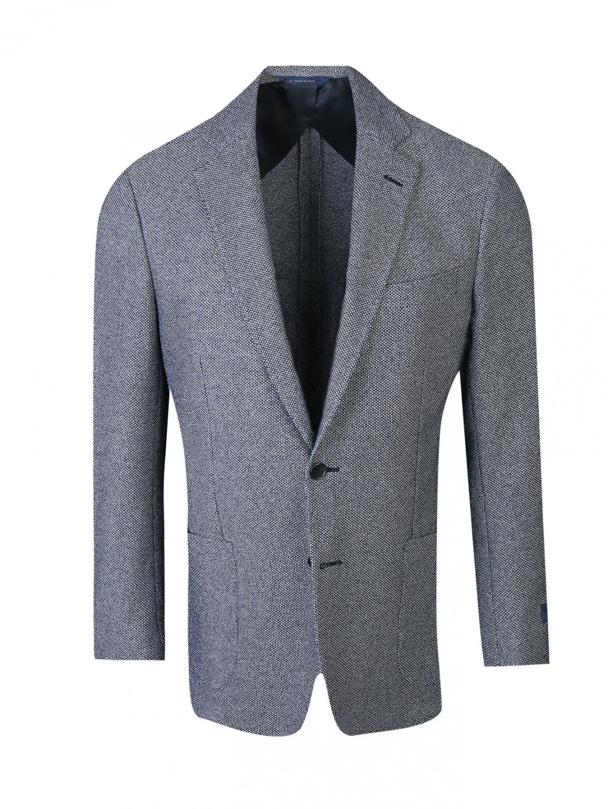 Пиджак из хлопка с накладными карманами Brooks Brothers  –  Общий вид