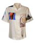 Рубашка из шелка с узором и короткими рукавами Marni  –  Общий вид