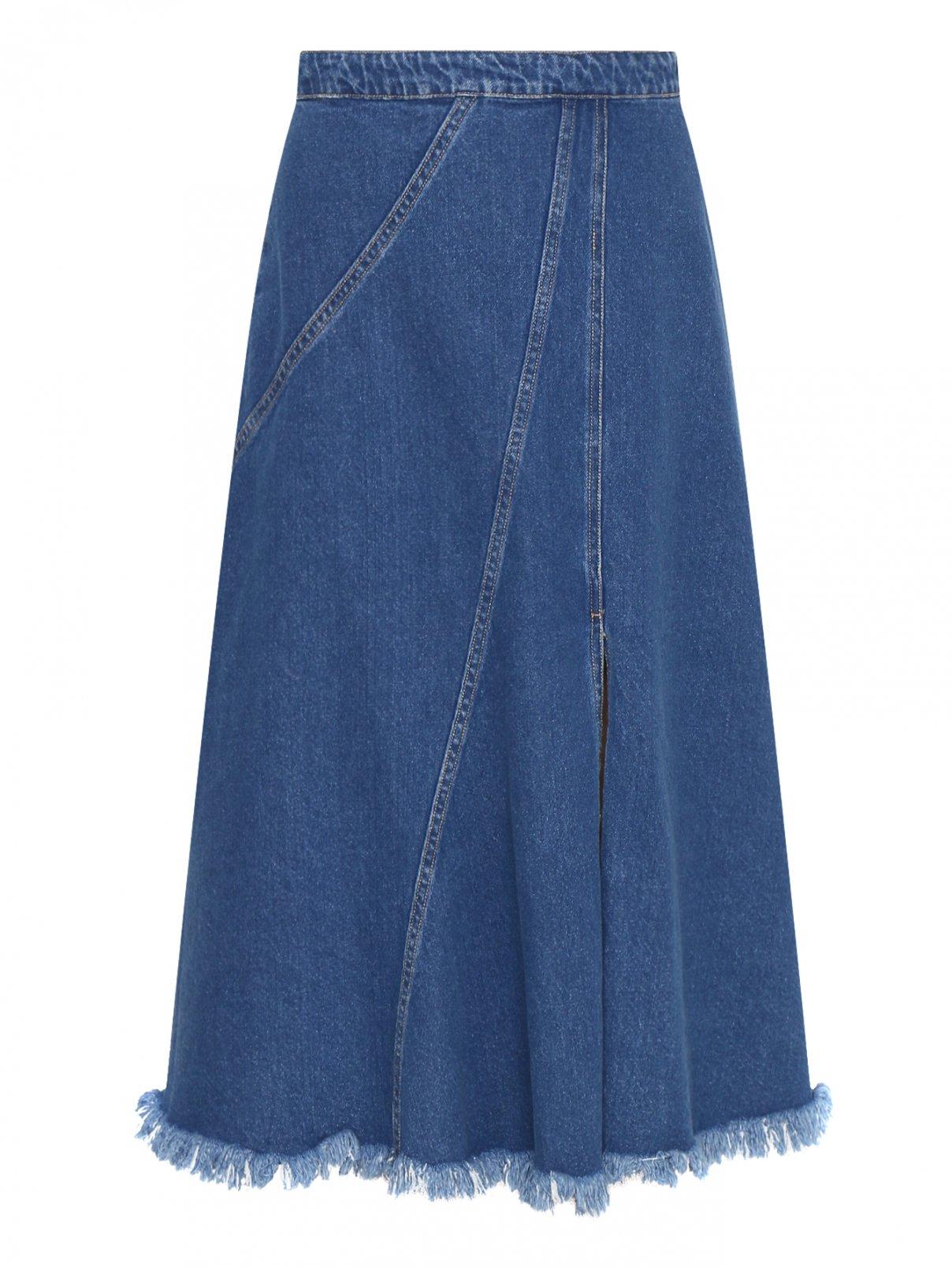 Джинсовая юбка из хлопка на молнии Bosco Fresh  –  Общий вид