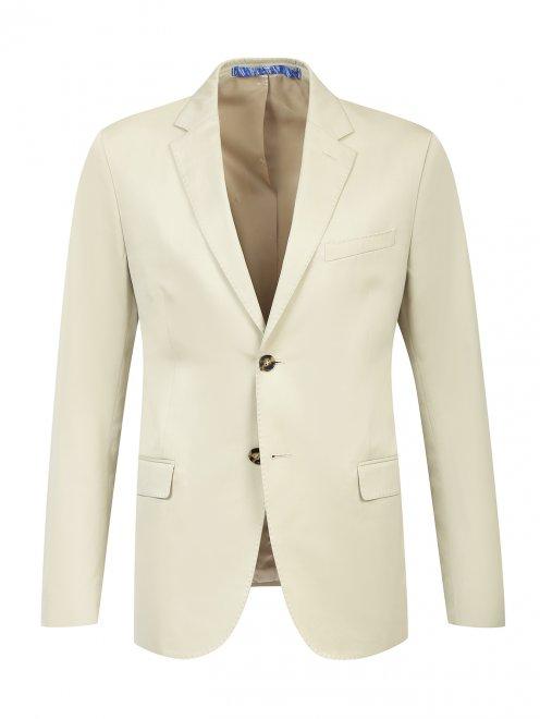 Пиджак однобортный из хлопка - Общий вид