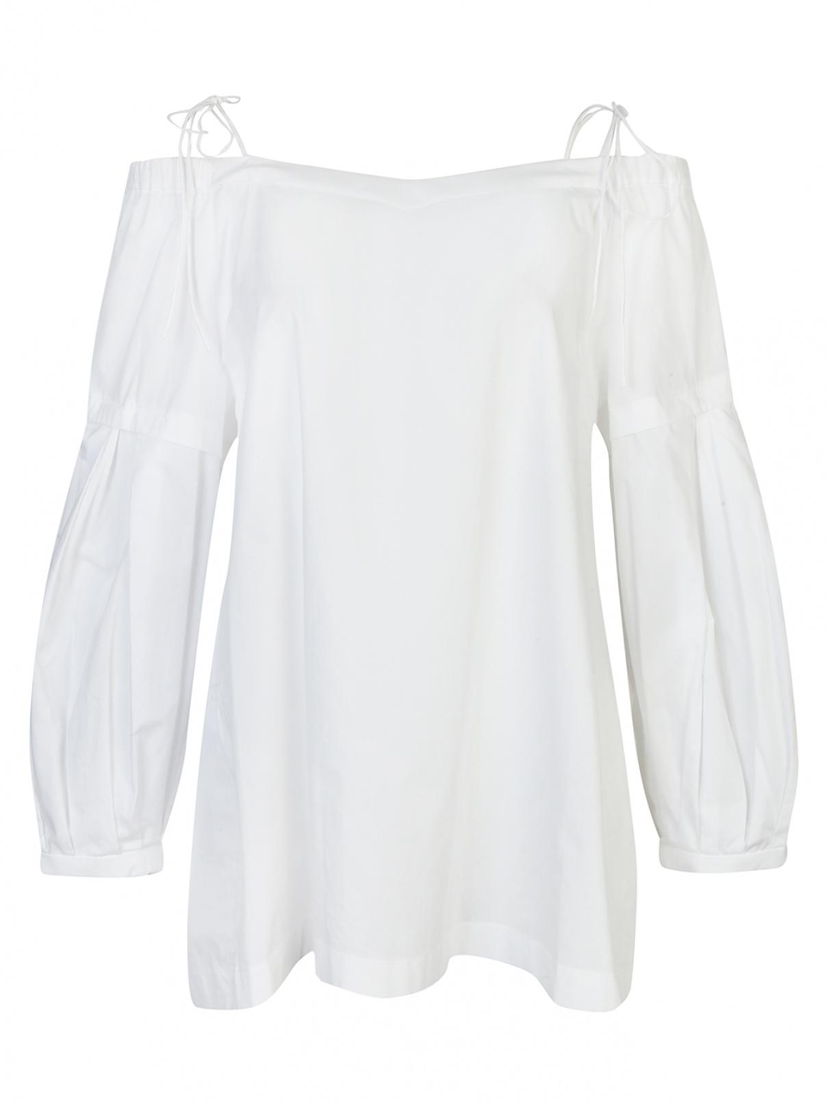 Блуза из хлопка с открытыми плечами Dorothee Schumacher  –  Общий вид