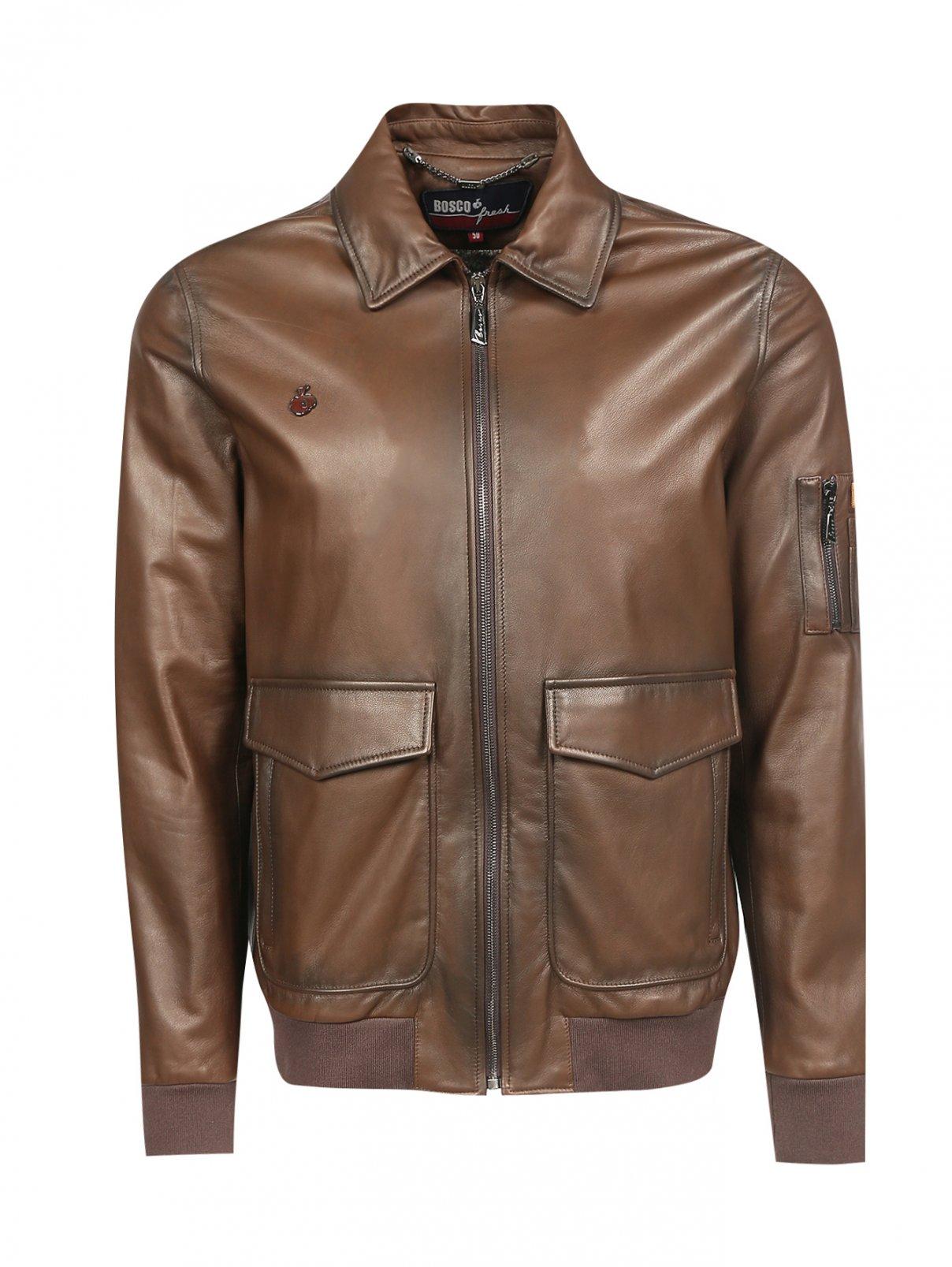 Куртка из кожи с накладными карманами Bosco Fresh  –  Общий вид