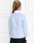 Рубашка из хлопка с фактурным жабо Aletta Couture  –  МодельВерхНиз1