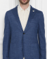 Пиджак из льна и хлопка с накладными карманами LARDINI  –  МодельОбщийВид1