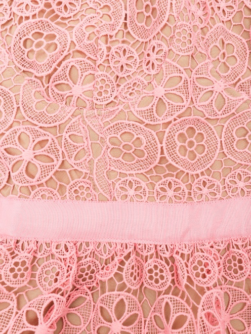 Платье-мини из кружева с короткими рукавами - Деталь