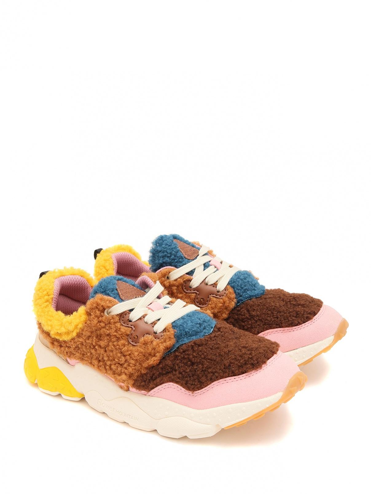 Меховые кроссовки на шнуровке Naturino  –  Общий вид