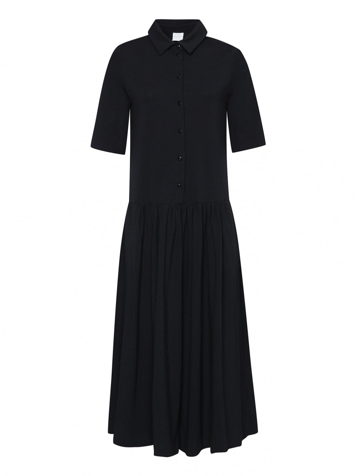 Платье-миди из смешанного хлопка со сборкой Max Mara  –  Общий вид