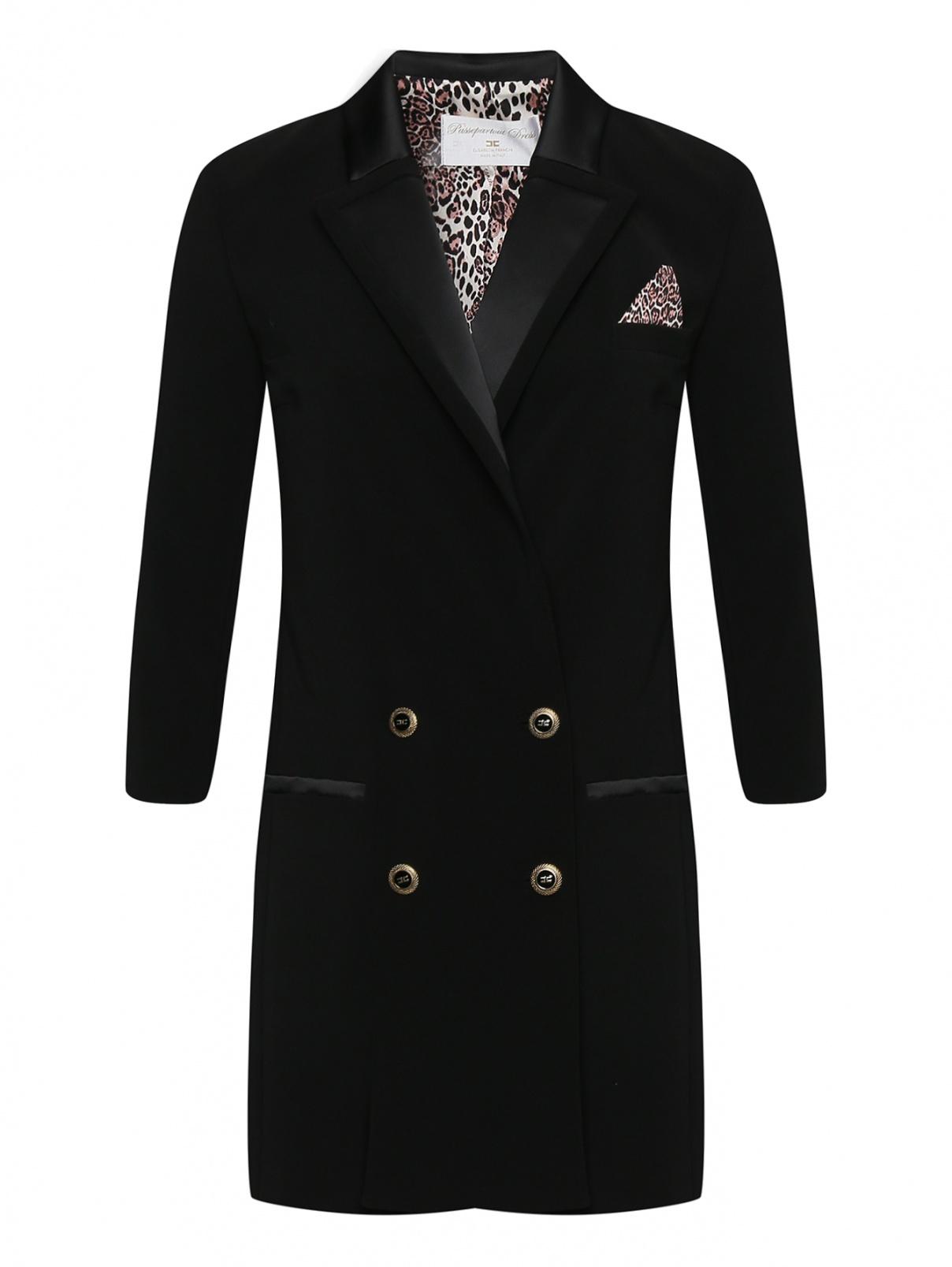 Платье-мини с нагрудным платком Elisabetta Franchi  –  Общий вид