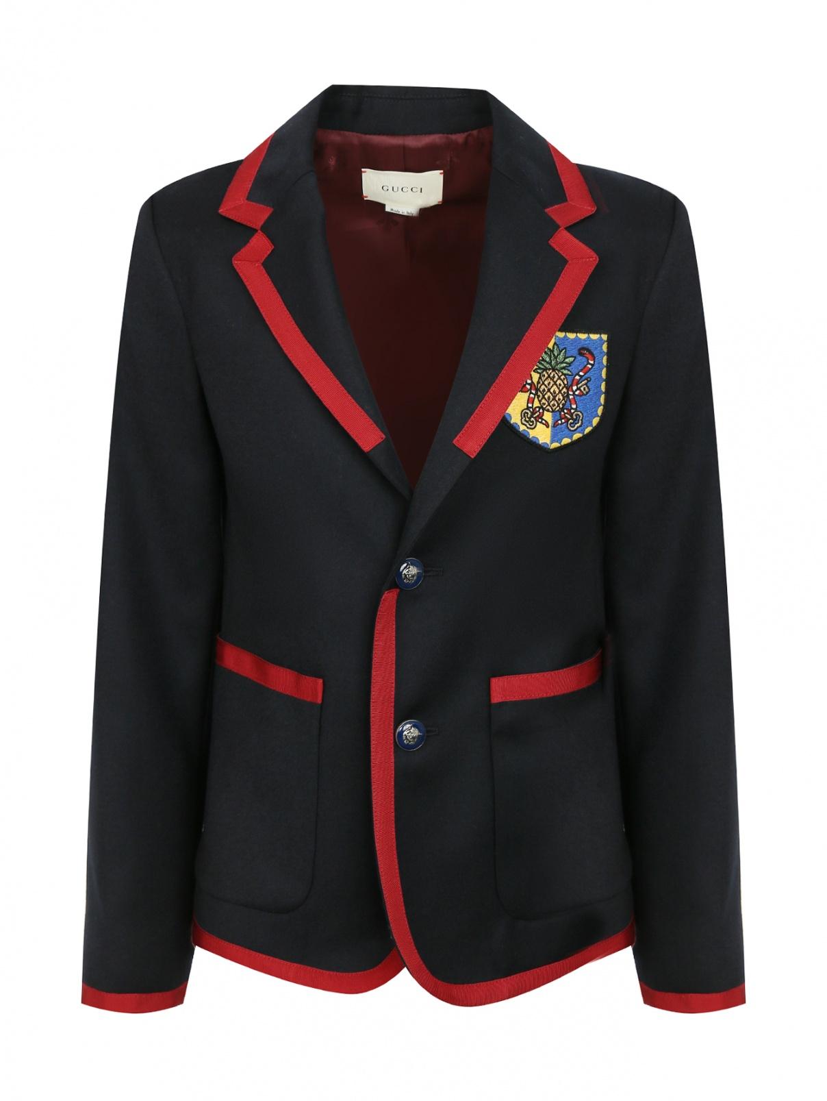 Пиджак из шерсти и кашемира с шевроном Gucci  –  Общий вид