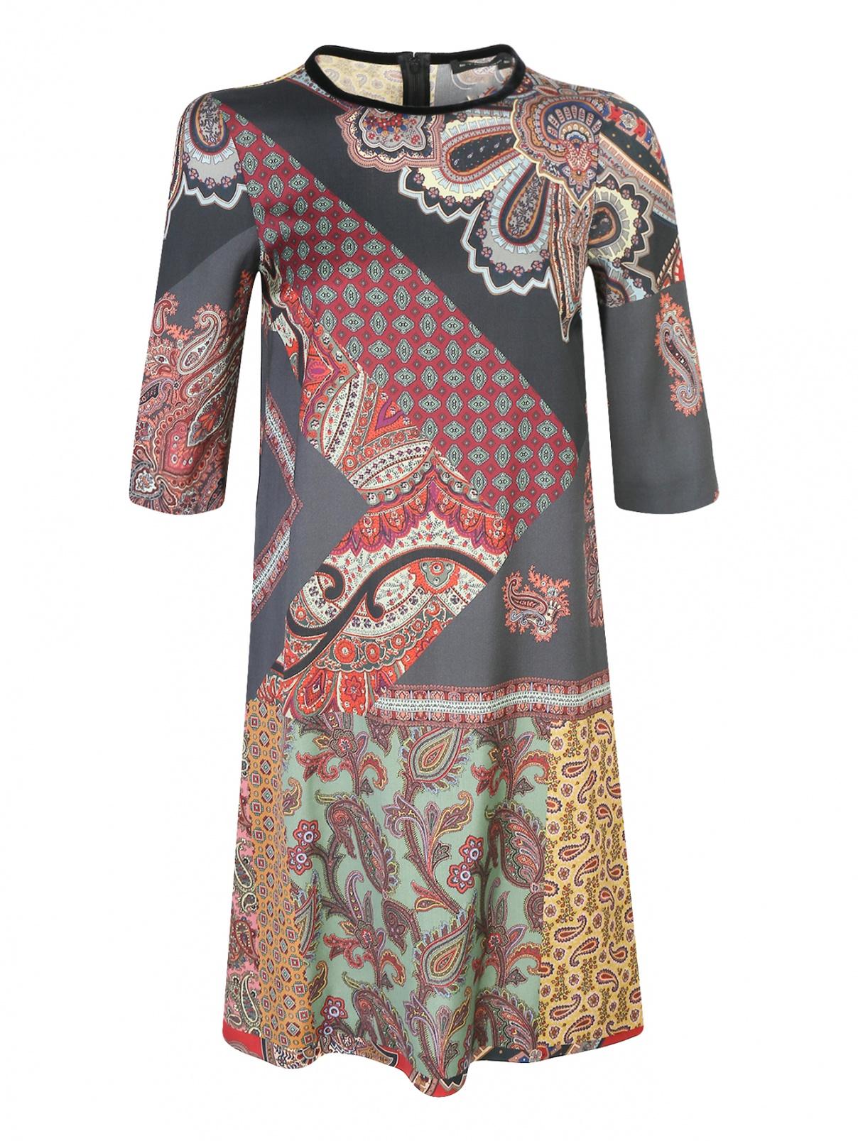 Платье из шерсти свободного кроя с узором Etro  –  Общий вид