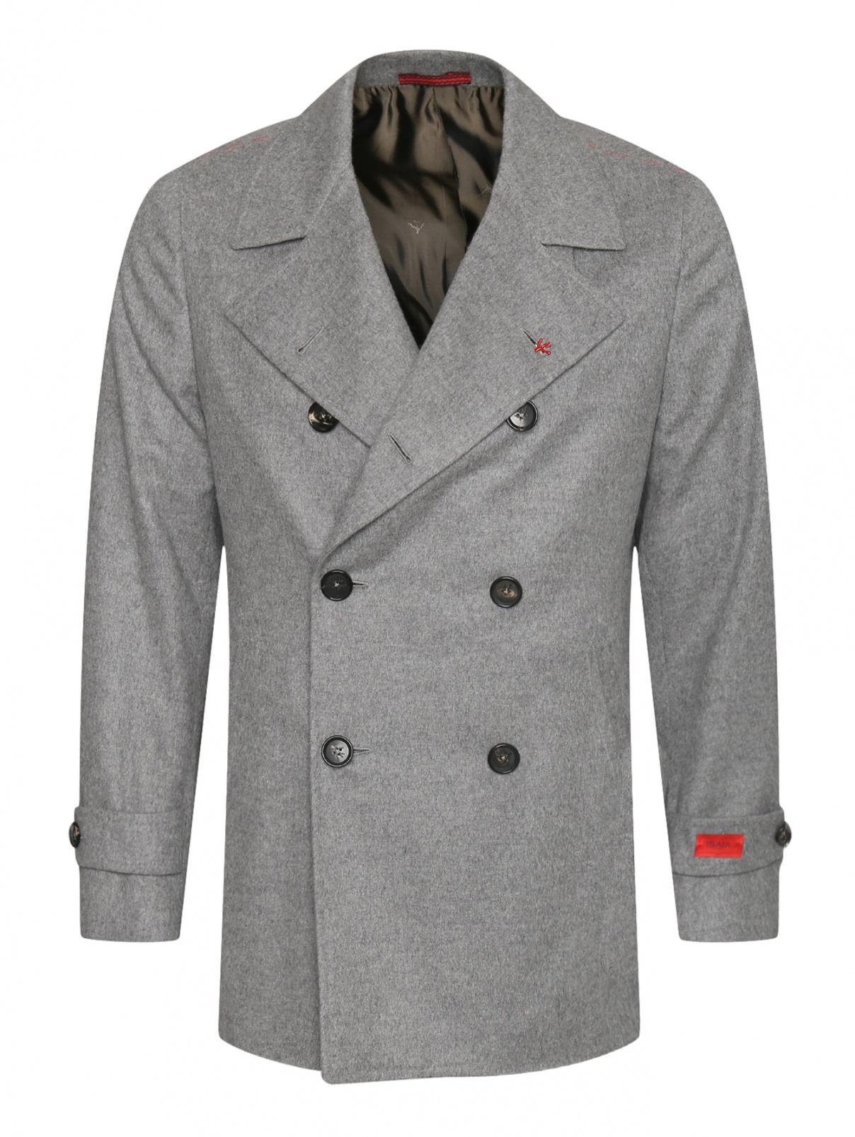 Двубортное пальто из шерсти и кашемира Isaia  –  Общий вид