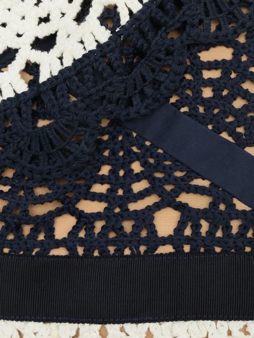 Платье из кружева контрастных цветов - Деталь