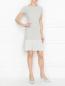Трикотажное платье-мини с вырезом на спине Emporio Armani  –  МодельОбщийВид