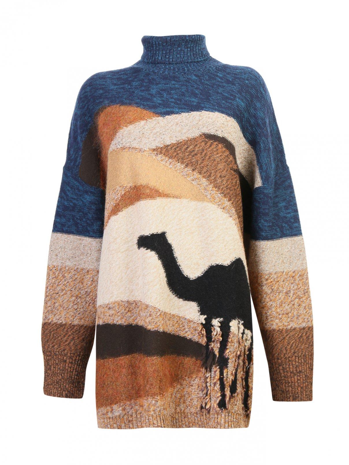 Джемпер из шерсти и мохера с рисунком Isola Marras  –  Общий вид