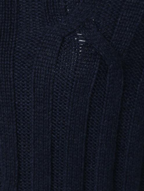 Свитер из шерсти крупной вязки - Деталь