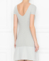 Трикотажное платье-мини с вырезом на спине Emporio Armani  –  МодельВерхНиз1