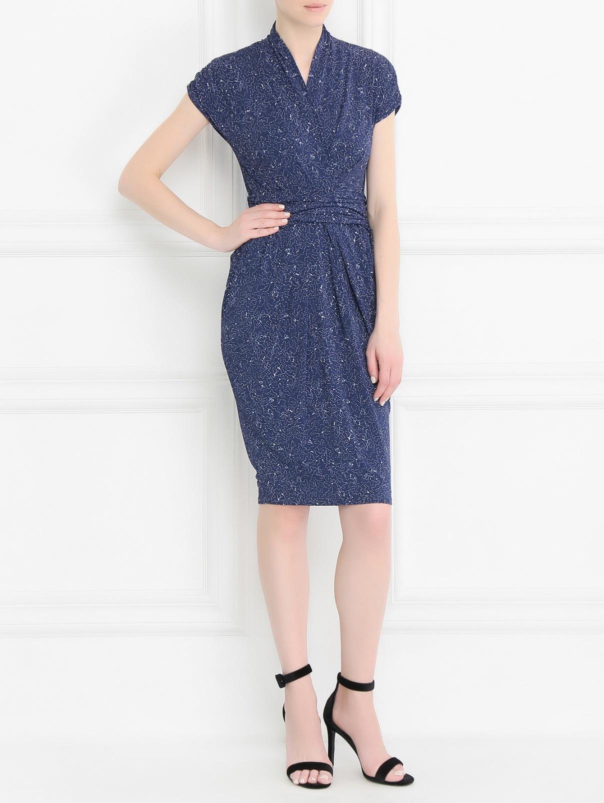Платье трикотажное с узором Max Mara  –  Модель Общий вид