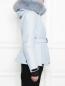 Укороченная пуховая куртка на поясе Moncler  –  МодельВерхНиз2