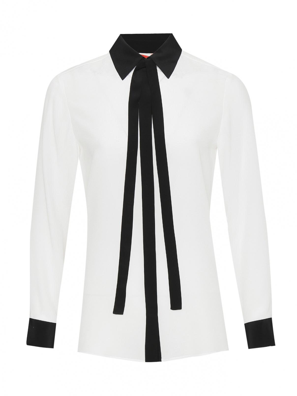 Блуза из шелка на пуговицах Max&Co  –  Общий вид