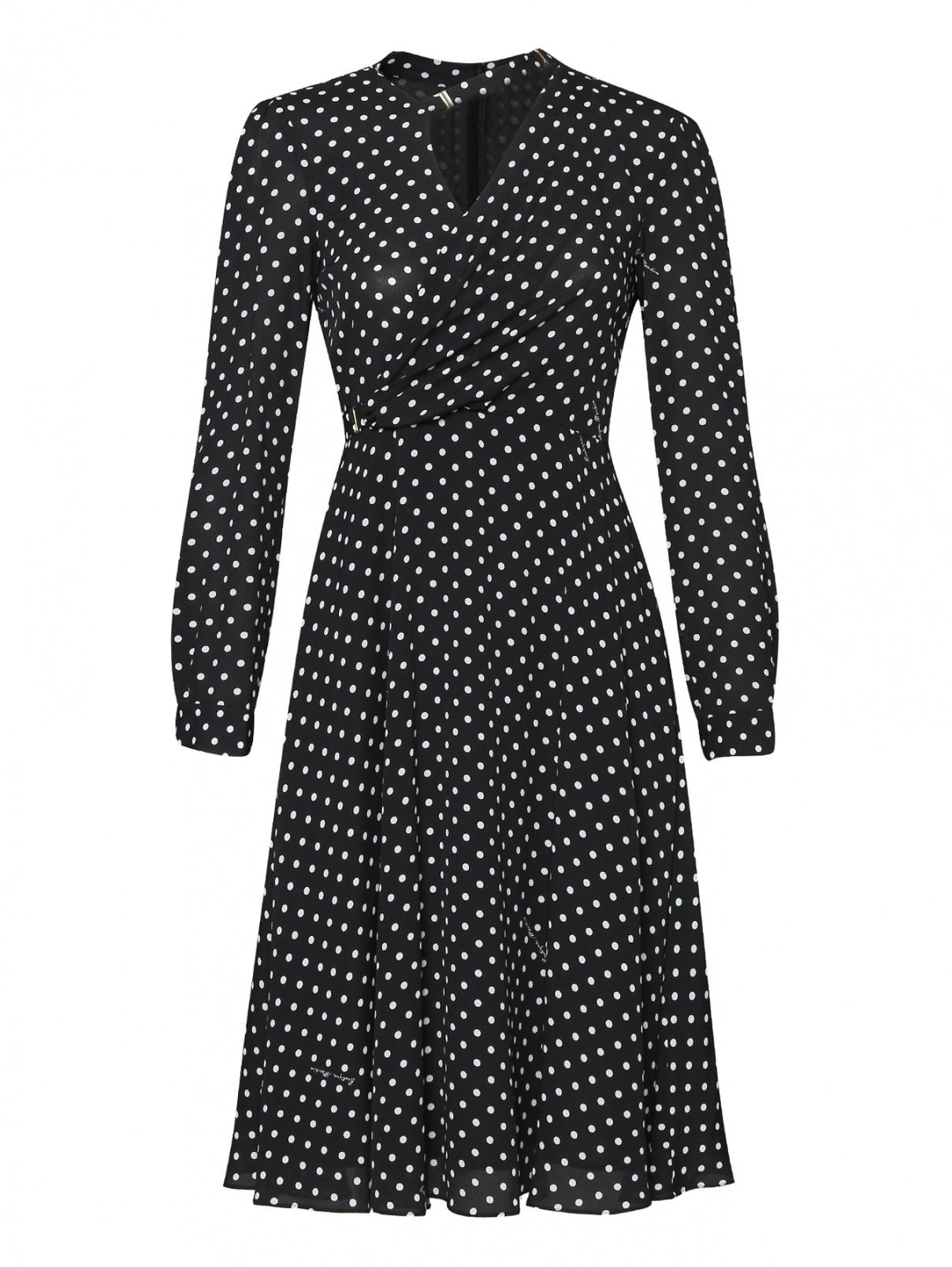 Платье из вискозы в горох Moschino Boutique  –  Общий вид