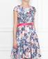 Платье-мини без рукавов с узором под пояс Max&Co  –  МодельВерхНиз