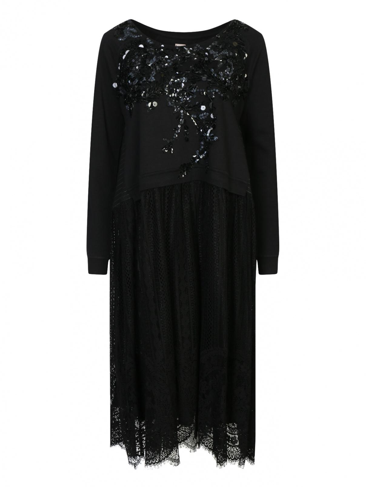 Платье свободного кроя с аппликацией Antonio Marras  –  Общий вид
