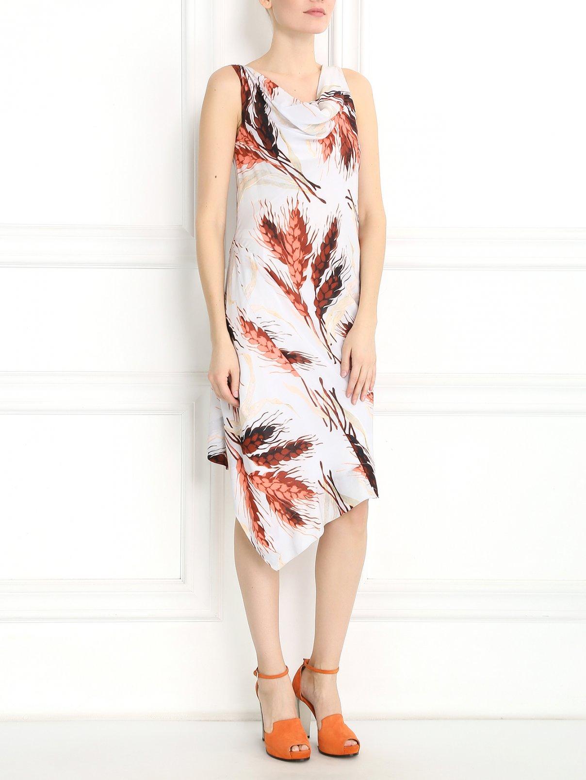 Платье-миди без рукавов с узором Vivienne Westwood  –  Модель Общий вид